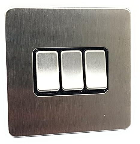Schneider Electric Ultimate Screwless Flat Plate - 3 Gang 2