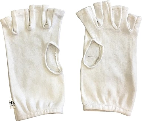 ND Fingerlose Baumwolle innen Handschuhe verschiedene Größen Cricket Innen Handschuhe Damen Herren, Damen