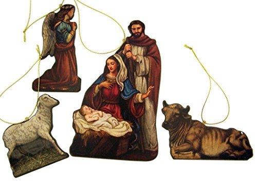Gottes Geschenk der Liebe Mittelmeer auf Holz Weihnachtskrippe Ornament Set, 15,2cm