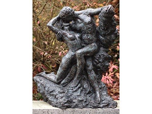 H. Packmor GmbH Bronzeskulptur – Küssendes Liebespaar Der ewige Frühling