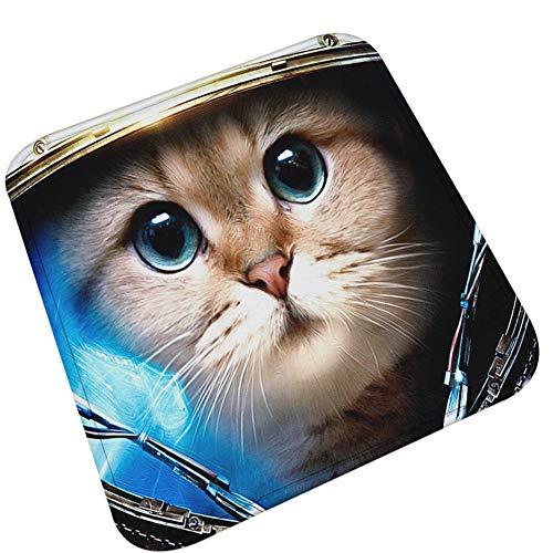VLUNT Mince Coussins de Chaises Carrés, Léger Galettes de Chaises Doux Flanelle Décoration Maison Mat Imprimée Animal, ou utilisé comme Un Chat Chien Lit Tapis