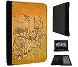 873–señor del anillo mapa de la tierra media diseño Amazon Kindle Fire HD 10
