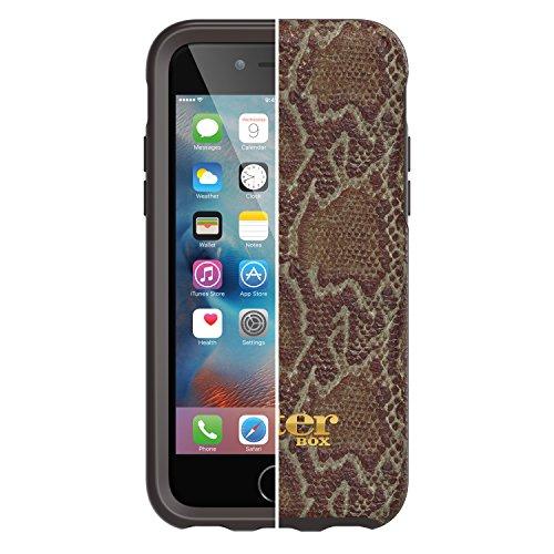 OtterBox Strada sturzsichere Folio Leder Schutzhülle, Schwarz + Alpha Glass Display Schutzglas für Apple iPhone 6 / 6s Braun