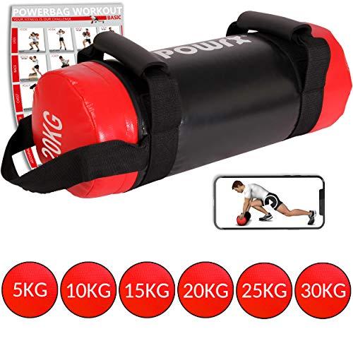 Sac lesté / Powerbag - 5 kg à 30 kg - Functional Fitness (5 kg Noir/Rouge)