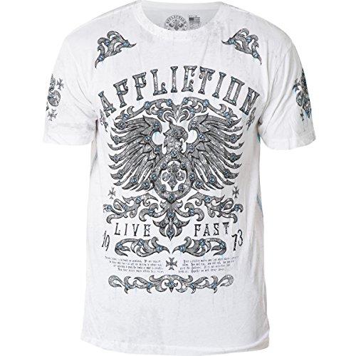 Affliction T-Shirt Secure Measure Rust Weiß Weiß