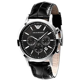 Emporio Armani Chronograph Black Dial Men's Watch – AR2447