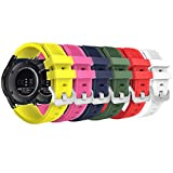 MoKo Bracelet en Silicone Souple [6-Pack] pour Samsung Galaxy Watch 46mm / Gear S3...