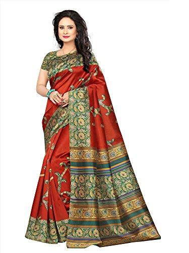 SAREE MALL Womens art silk Saree with blouse (sarees offer below 500 rs_SRJA031)