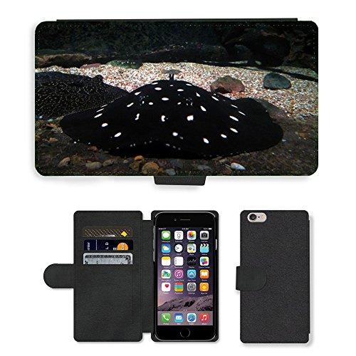 Just Mobile pour Hot Style Téléphone portable étui portefeuille en cuir PU avec fente pour carte//m00138783Sting Ray Sting Ray Animal/pois/Apple iPhone 6Plus 14cm