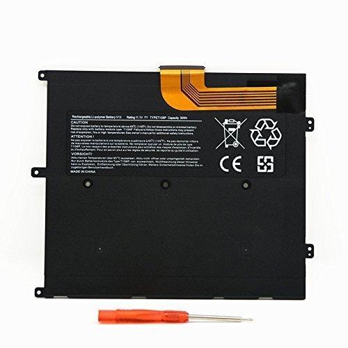 SLODA Batterie pour Ordinateur Portable de Remplacement pour Dell Vostro V13 Vostro V130 Vostro V1300 Vostro V13Z Latitude 13 Batterie Adéquat [Li-Polymer 11.1V 30Wh]