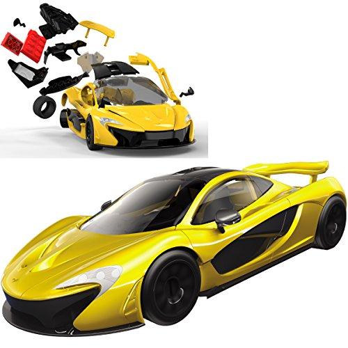 Spielzeug-Auto McLaren P1 aus kompatiblen Bausteinen, 23cm - Kinder Bausatz Quick Build Modell Fahrzeug