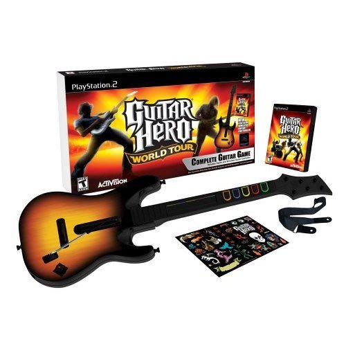 Guitar Hero: World Tour - Solo Guitar Pack (Ps2 Video Game Bundle)