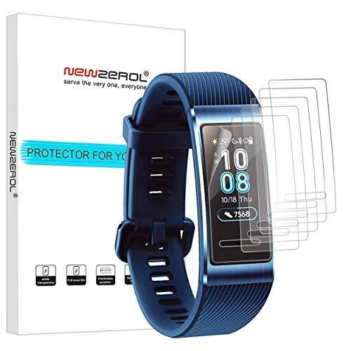 NEWZEROL 6 Packs Huawei Band 3 Pro Film de Protection d'écran, Film de Protection Anti-Empreintes digitales, résistant aux Rayures TPU, pour Huawei Band 3 Pro