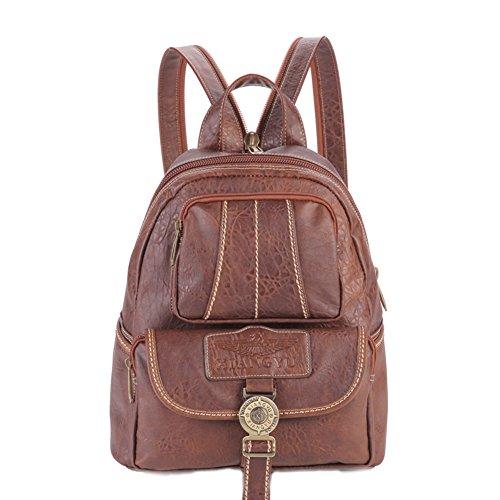 Lycailcy  LYC-Lycailcy-80293-5, Sac à main porté au dos pour femme Marron Light Brown(9.3 x 5.5 x 11.8 inches) taille unique Light Brown(9.3 x 5.5 x 11.8 inches)