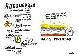 Postkarte A6 +++ LUSTIG von modern times +++ ÄLTER WERDEN +++ ARTCONCEPT © ZANDER