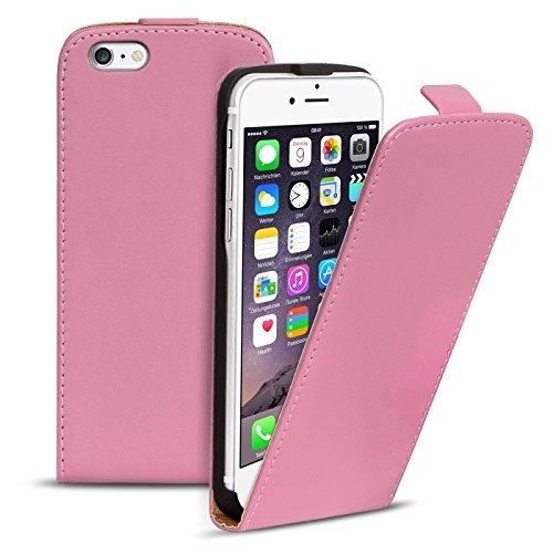 iPhone 6S, 6 PU Leder Hülle, Conie Mobile FlipCase, Klapptasche Handytasche Schutzülle Premium Fliptasche in Weiß Rosa
