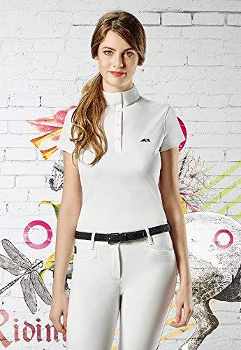 Equiline Damen-Poloshirt Isabel M/38 weiß