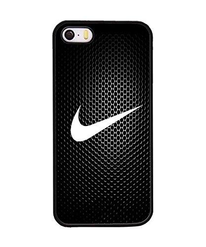 Iphone 5 / 5s Custodia Case, Brand Logo Nike Durable Drop Protection Extra Slim Plastic Shell Custodia Case twoe-070