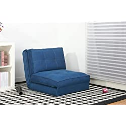 Artdeco fauteuil convertible chauffeuse convertible plusieurs couleurs (grand, bleu jeans)