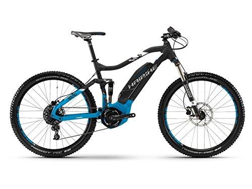 Haibike SDURO FullSeven 5.0 E-Bike 400Wh E-Mountainbike schwarz/blau/weiß matt