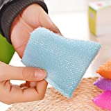 #2: Elcara 12 pcs Foam Pad Sponge Scourer Kitchen Scrubber for Dish/Utensils/Tiles cleaning Random Color