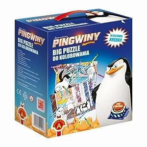 Puzzle do kolorowania 2 Pingwiny Z Madagaskaru 2 w 1