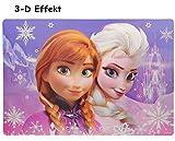 alles-meine.de GmbH 3-D Effekt Unterlage -  Disney die Eiskönigin / Frozen  - 42 cm * 29 cm - Tischunterlage / Platzdeckchen / Malunterlage / Knetunterlage / Eßunterlage - Anna..