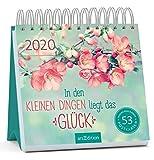 Postkartenkalender In den kleinen Dingen liegt das Glück 2020 - Wochenkalender mit abtrennbaren Postkarten: Aufstellkalender für mehr Glück, Motivation und Lebensfreude