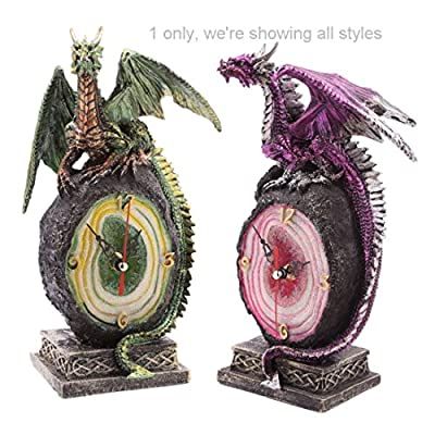 Crystal Geode Dark Legends Dragon Clock Our Fantasy And Gothic Dragon Range Are Great Entry