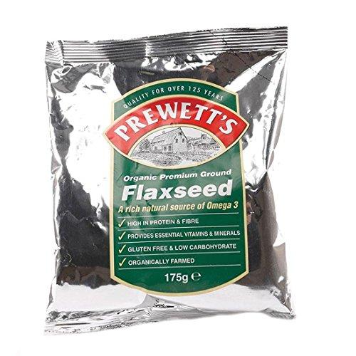 Prewetts | Organic Ground Flaxseed | 6 x 175G