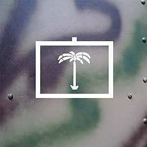 Sticker Autocollant–Afrique Palmier tactique Dak caractères compatible avec VW Kübel Chariot type 82Bundeswehr BW (Blanc, 18x 14cm) # A125