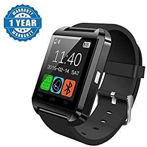 Drumstone U8 Bluetooth Smart Notification Wrist Watch Works with All Android or iPhone Devices (1 Year Warranty, Color…