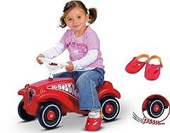 Bobby Car Nachdenklich Big Bobby Car Classic Rot Mit Anhänger Kinderfahrzeuge