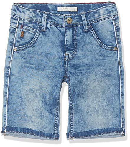NAME IT Jungen NKMSOFUS DNMCLAS 1161 Long Shorts, Blau (Light Blue Denim), (Herstellergröße: 134) Long Blue Denim