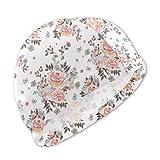 Guan_Collection Badekappen für Kinder Blumenstrauß mit 8 Eulen Mehr Blumen Badekappen Bademütze Kid Sonnenhut