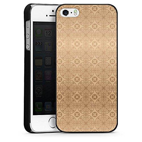 Apple iPhone 5s Housse Étui Protection Coque Fleur Fleur Fleur CasDur noir