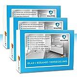 3x Sealpro Nano Glas & Keramik-Versiegelung | Profi Antikalk Schutz mit Lotus-Effekt | Wirkt bis zu 2 Jahre | F. Dusche Badewanne Waschbecken Toilette