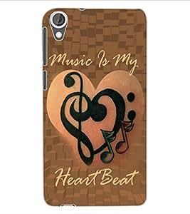 ColourCraft Music Lover Design Back Case Cover for HTC DESIRE 820