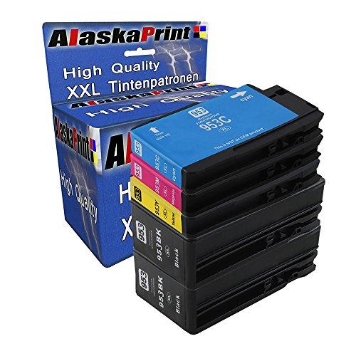 5er Set Druckerpatronen kompatibel mit HP 953 XL 953XL Multipack für OfficeJet Pro 7740 WF 8200 Series 8210 8216 8218 8710 8715 8718 8719 8720 8725 8730 8740 8728 Tinte Drucker Patrone Tintenpatronen