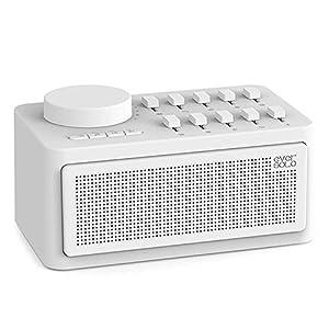 Mmyunx Schlafhilfe Maschine Schlaftherapie Wireless-Lautsprecher Weiß Geräusch Generator Bluetooth Sleep Sound
