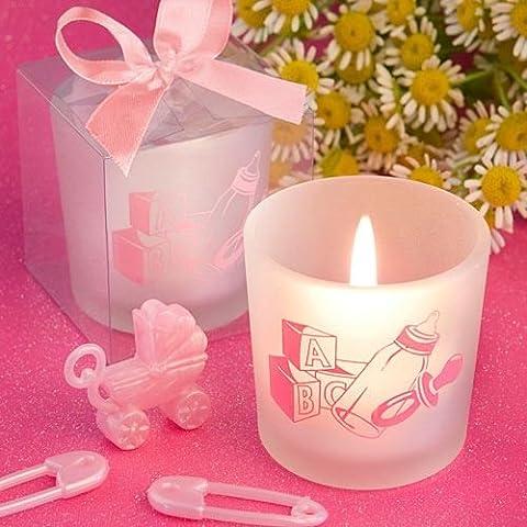 Set di 6 neonata tema Candele Bomboniere battesimo Baby Shower favori da regalo - (2 pezzi)