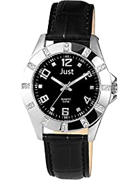 Just Watches Damen-Armbanduhr Analog Quarz Leder 48-S3928-BK