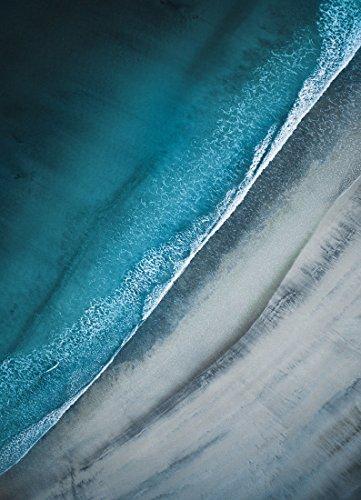 """JUNIQE® Leinwandbild 60x90cm Strände - Design """"Lofoten Beach"""" (Format: Hoch) - Leinwand,..."""