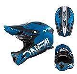 Oneal Downhill MTB Helm Warp Fidlock BLOCKER Fullface Mountainbike blau Gr. M
