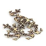 Skyllc® 10x Metall Anhänger Anker Kette Halskette Collier Halsschmuck