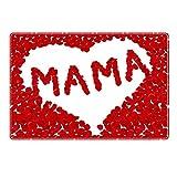 Tischset mit Namen ''Mama'' Motiv Rosenherz - Tischunterlage, Platzset, Platzdeckchen, Platzunterlage, Namenstischset