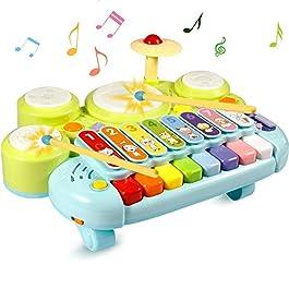 Strumento Musicale Giocattolo, Ohuhu 20 Strumenti Musicali per Bambini, Set di Percussioni per Bambini