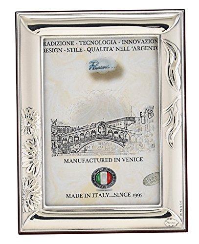 MARGHERITE Cornice per Foto Portafoto Argento Artigianale Made in Italy Foto ca. 6x9cm