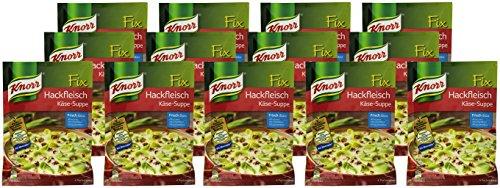 Knorr Fix Hackfleisch Käse-Suppe mit Lauch 4 Portionen (13 x 64 g)