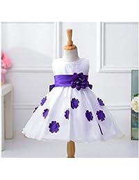 Free Fisher Mädchen Prinzessin Kleid Festkleid mit Blumen